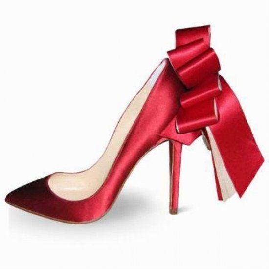 0382205e24e Christian Louboutin Anemone Stiletto Satin Pumps Red | Shoes ...