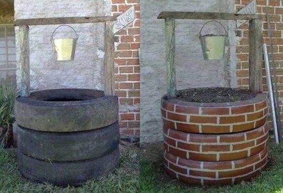Faire un puits avec des pneus Animation
