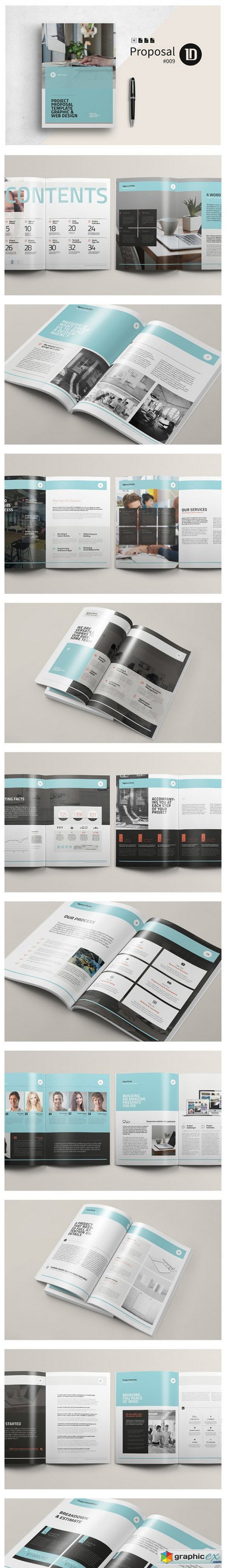 Project Proposal Template   Layout  Editorial Design