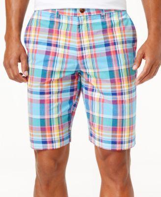 TOMMY HILFIGER Tommy Hilfiger Men'S Plaid Cotton Shorts. #tommyhilfiger #cloth # shorts