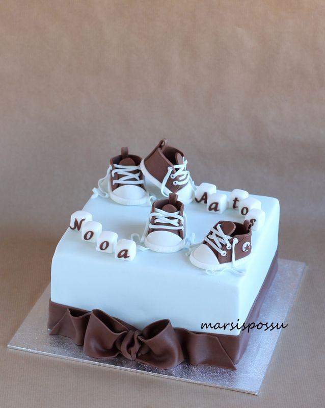Marsispossu: Kaksosten ristiäiskakku, christening cake