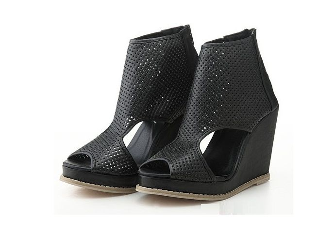 Motte Preorder: The Jeffrey Campbell Inspired Peeptoe Perforated Wedge