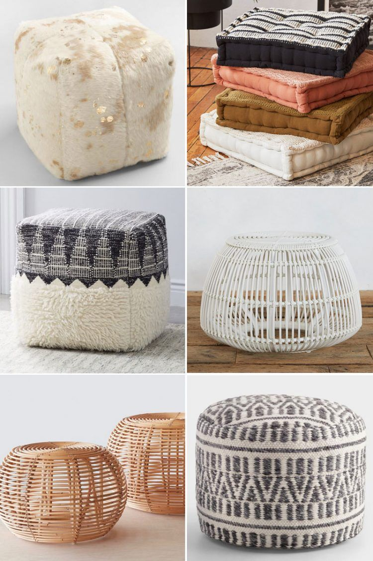 30 Poufs To Make Your Home Even Cozier Living Room Pouf Floor