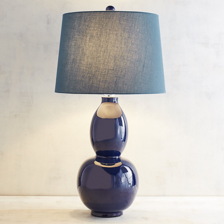 Primavera Navy Blue Table Lamp Table Lamp Lamp Blue Table Lamp