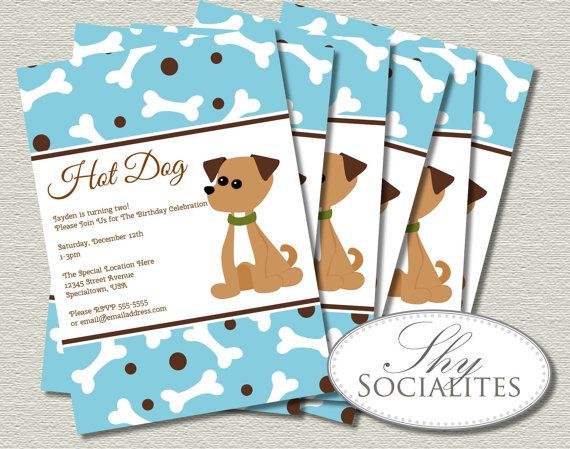 Party Hat Template Printable Puppy Dog Birthday Invitation