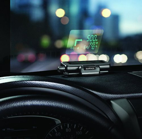 GPS Windshield Projector No more fiddling with those stupid GPS stands or trying to get those suction cups to stick. All this GPS requires is your windshield! The device, from Garmin, projects your destination all from a tiny box you stick on your dashboard. Futuristic technology at an affordable price. BUY IT HERE