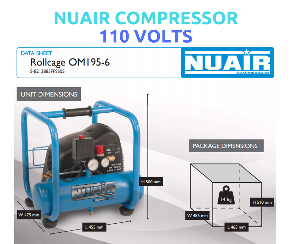 The ROLL CAGE Compressor. Compact and Lightweight. Ideal