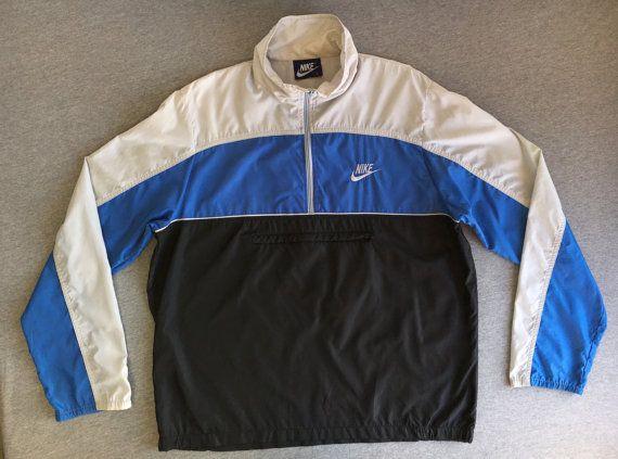 20392b9d2b717 NIKE Jacket 80s WINDBREAKER Vintage Blue Tag/ by sweetVTGtshirt ...
