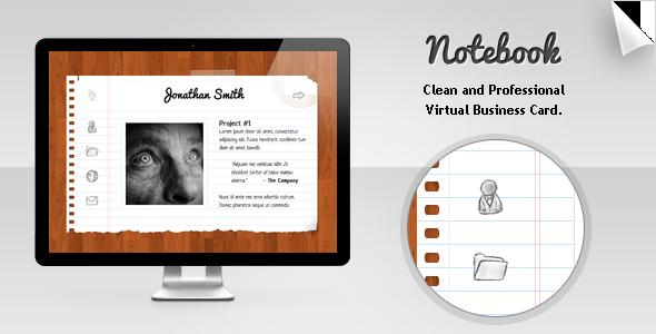 notebook virtual business card themeforest item for sale - Virtual Business Card