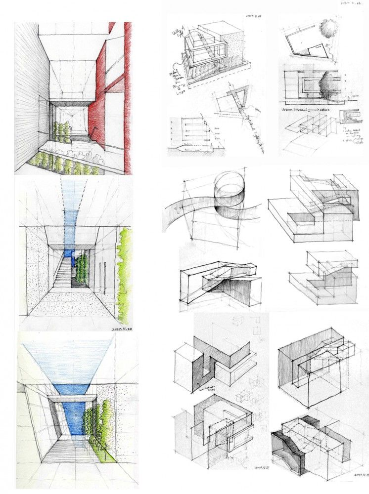 m hahn design sketches architecture and school
