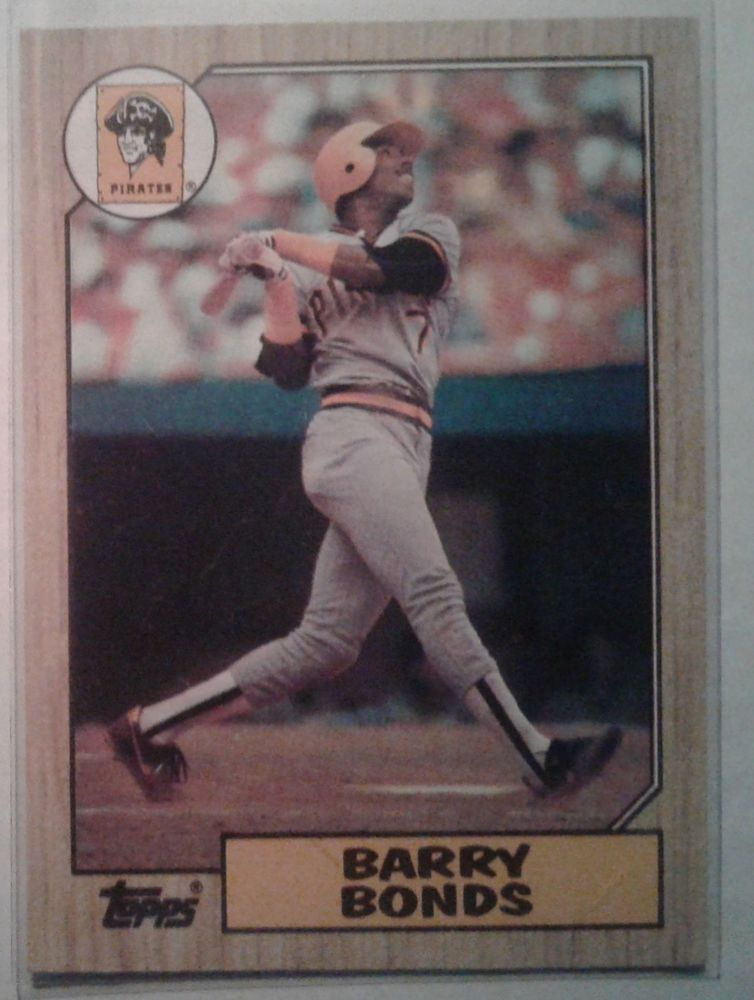 1987 topps barry bonds card 320 pittsburghpirates