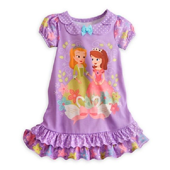 b729e42971 Disney Princess Sofia The First Nightgown Pajama NWT Authentic Disney Store  5 6  Disney  Nightgown