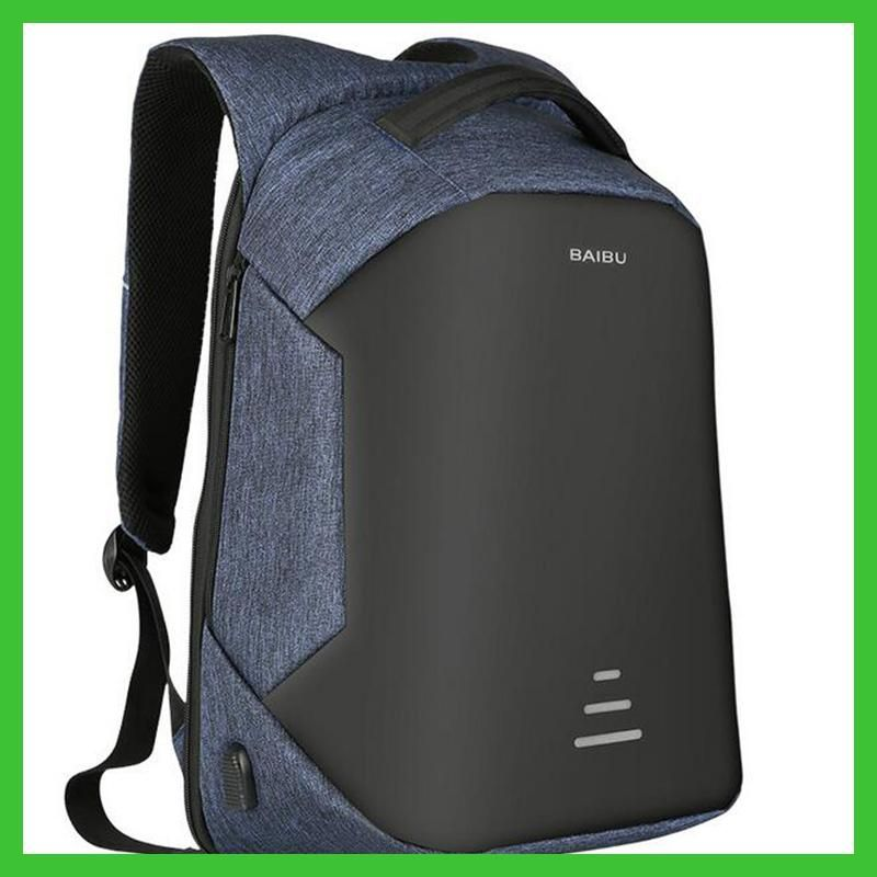 2017 Urban Backpacks Men USB Charge Laptop Backpack Minimalist Fashion  Anti-theft Backpack Casual Mochila 952de30171db2