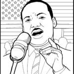 martin luther king jr speech at lincoln memorial coloring