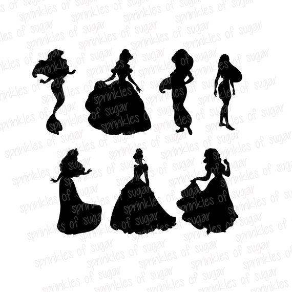 Disney Princess Silhouettes // Disney by SparkYourCreativity, $6.00