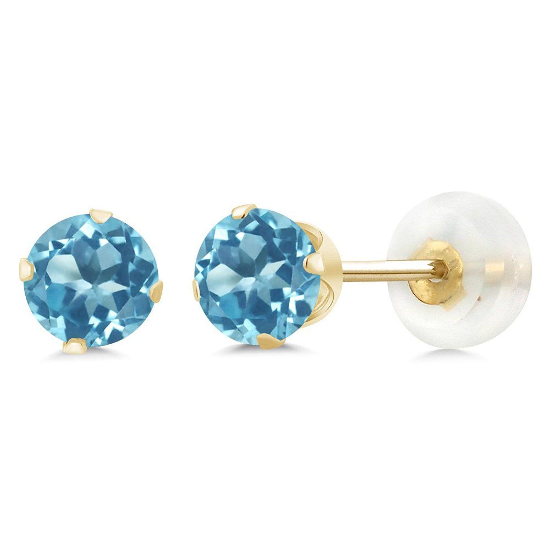 Fine Jewelry 10K Gold 5mm Stud Earrings E5qZL2hyO