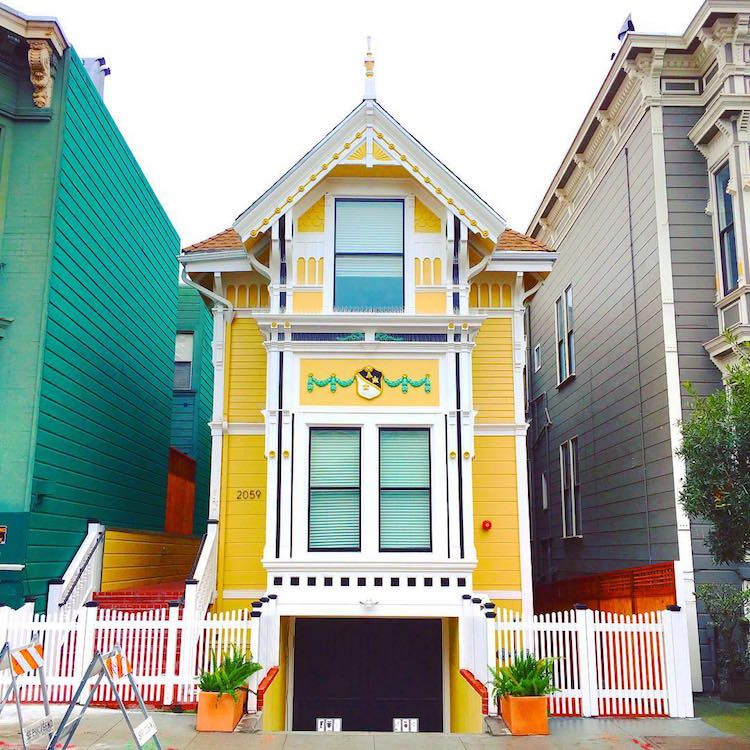San Francisco S Candy Colored Houses Celebrate Arrival Of Spring