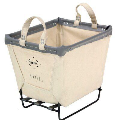 Steele Canvas Laundry Basket Color Beige Gray Wicker Laundry