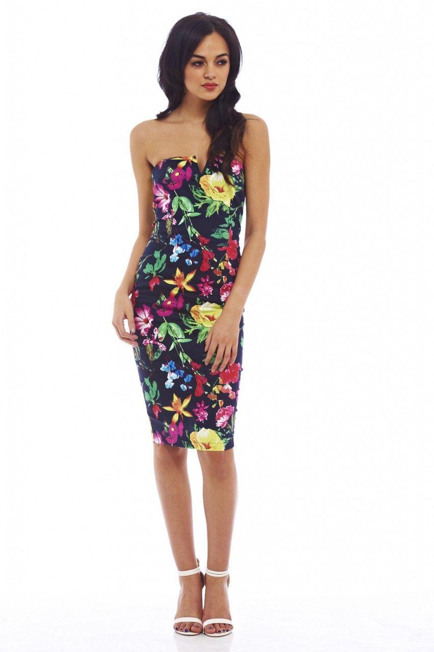624b808a9fc Floral Bodycon Midi Dress Ax Paris - Gomes Weine AG