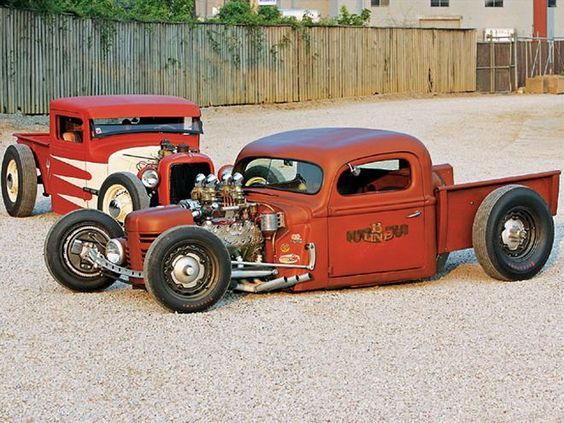 0804rc 01 Z 42 Ford Pickup And 34 Ford Pickup Rat Rods Truck Rat Rod Hot Rods Cars Muscle