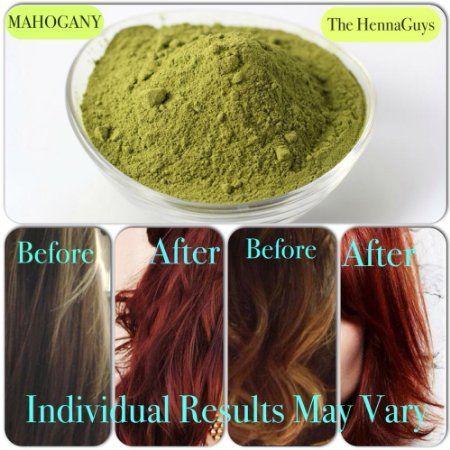 Mahogany Henna Hair Color Dye 2x100 Grams The Henna Guys My