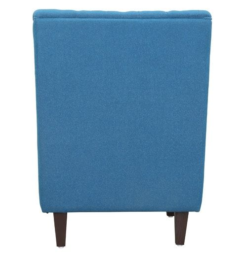Admirable Simon Wing Chair In Sea Blue Colour By Casacraft Furniture Caraccident5 Cool Chair Designs And Ideas Caraccident5Info