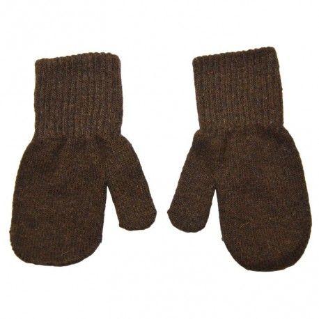 Mittens, wool, brown, Celavi