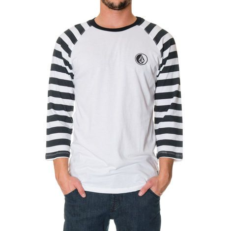 Men's DRAGLAN RAGLAN Short Sleeve Shirt - How do we improve upon our softest, lightest, most breathable raglan tee? We add pirate stripes to the 3/4 sleeves. Includes a small logo screen at chest. Premium fit.