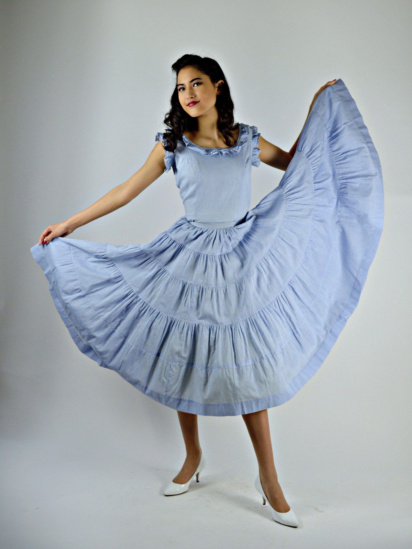 Hold Louise Blue Gingham Dress Vintage Spring Dress 1950s Etsy Blue Gingham Dress Western Dresses Long Sleeve Tee Dress [ 2880 x 2162 Pixel ]