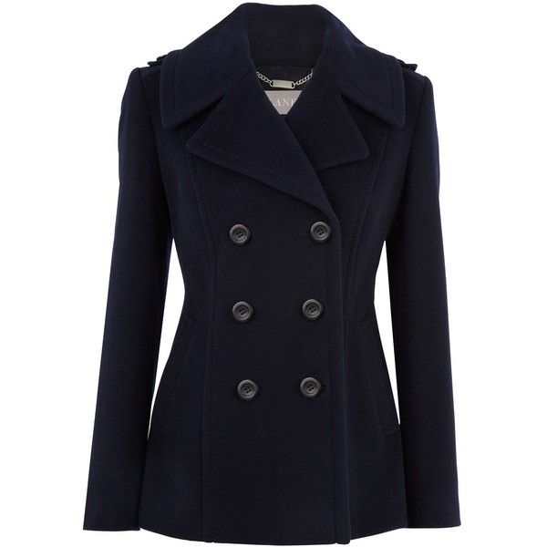 Planet Navy pea coat ($205) liked on Polyvore | Polyvore
