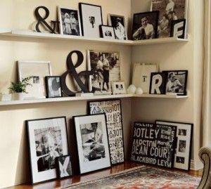 Photo Display Art Ledge Interior Design Decorating Ideas Wall