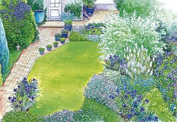 ideen für einen schmalen hausgarten | gärten, vorgärten und garten, Hause und garten