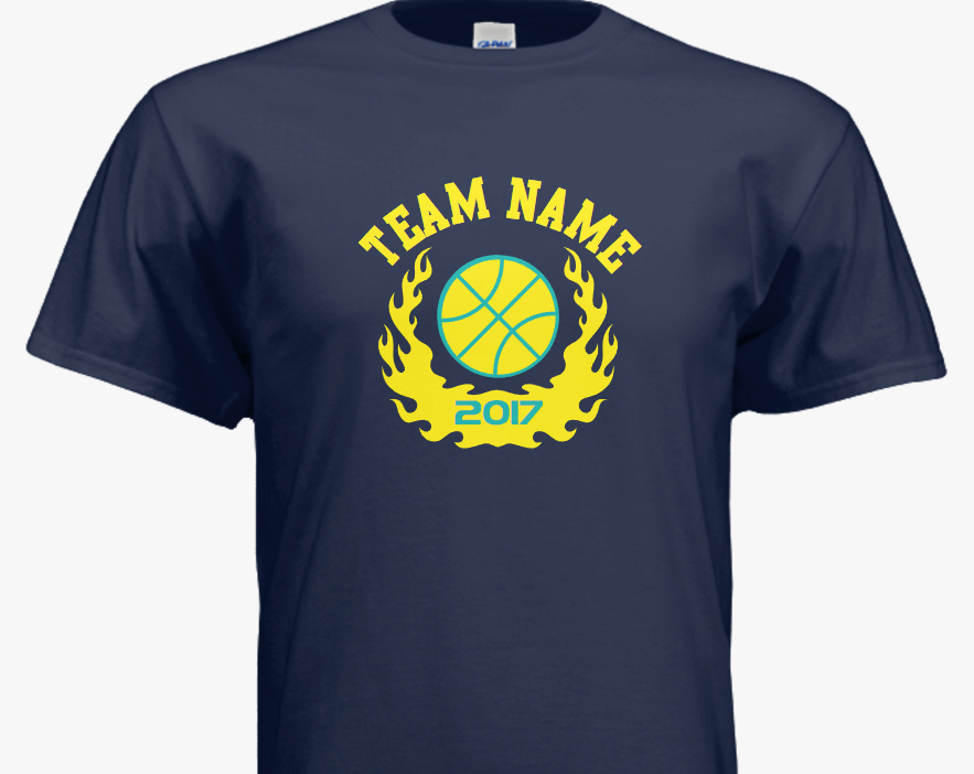 f3318b5b3 Kids basketball team t-shirts - customize with your team name and colors in  our easy-to-use design template.