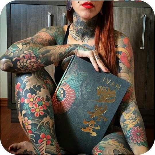 Pin by kimberly candy on tattoos r us pinterest tattoo for Full body tattoo women