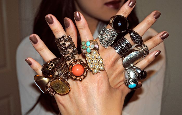 While I Don T Think You Need A Ring On Every Finger Layering Two