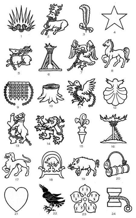 Heraldic badge emblems