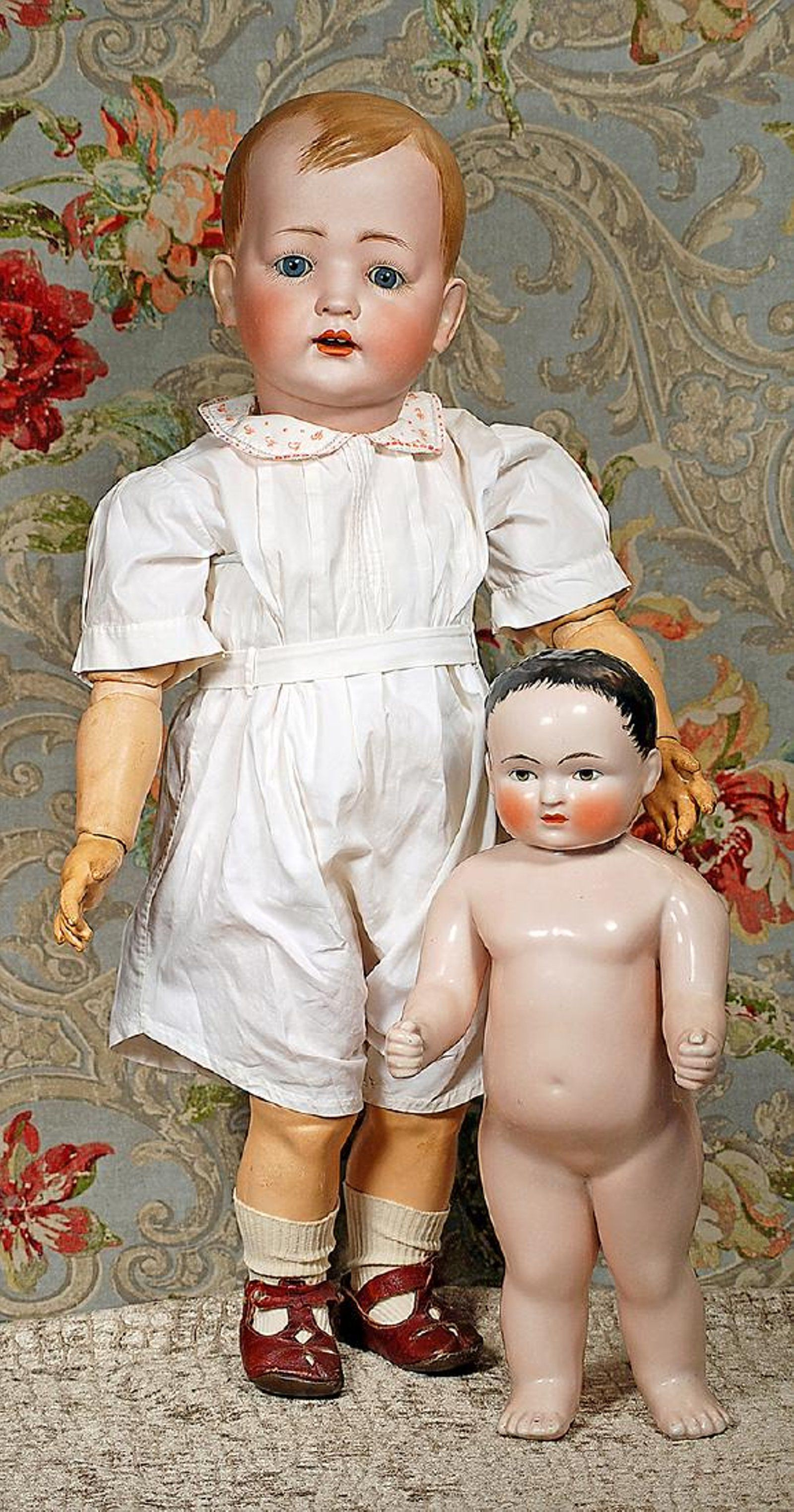 """LARGE """"TOMMY TUCKER"""" BISQUE TODDLER BY KLEY & HAHN"""