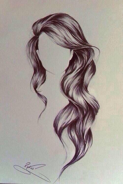 Tumblr Girl Hair Drawing Curly Hair Drawingdrawing Hair Girl