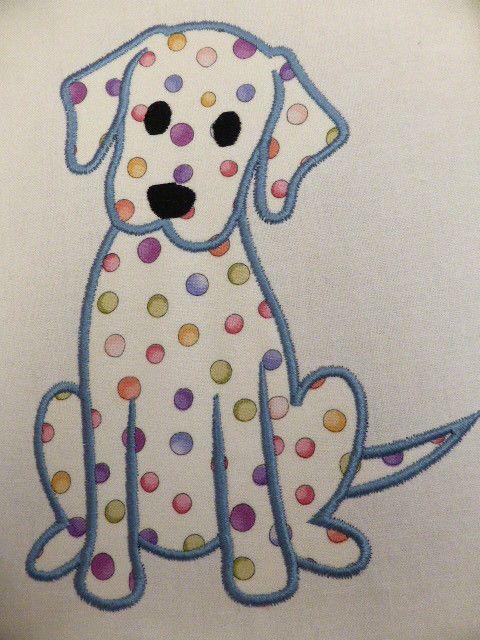 Labrador Puppy Dog Embroidered Applique Quilt Block Panel Puppy