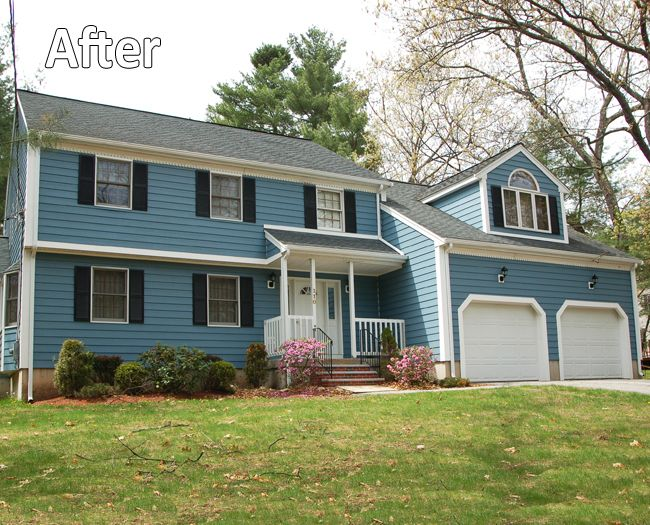 Everlast Siding Harborblue Billerica Ma Siding Contractors Siding Outdoor Structures