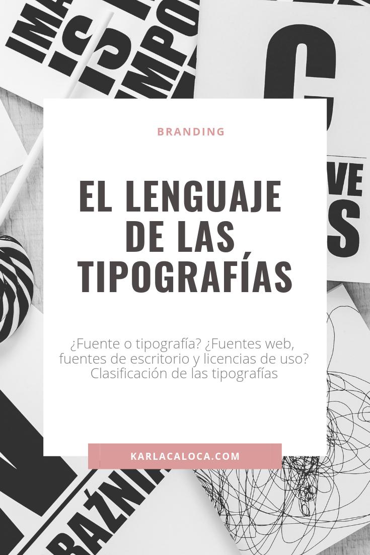 El Lenguaje De Las Tipografías Y Sus Clasificaciones Tipografía Lenguaje Tipos De Letras