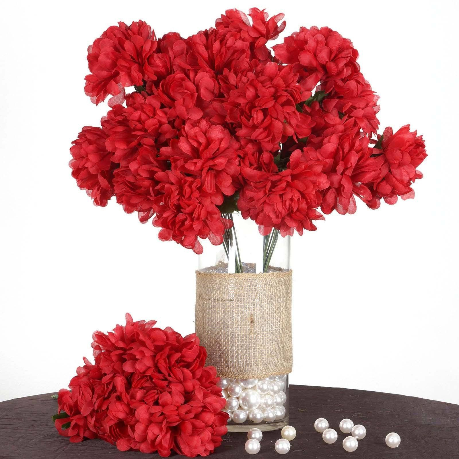 56 artificial red silk chrysanthemum flowers bush wedding bridal 56 artificial red silk chrysanthemum flowers bush wedding bridal bouquet vase decoration mightylinksfo