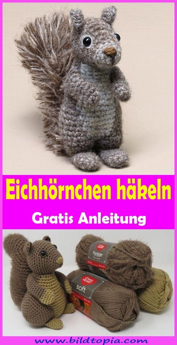 Photo of Eichhörnchen häkeln – kostenlose & einfache Anleit – Kinderkuche Diy Pappe
