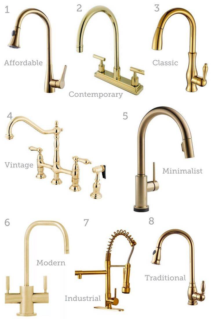 Photo of A Seriously Extensive Shopping Guide of Gold, Copper, & Bronze Kitchen & Bathroom Fixtures