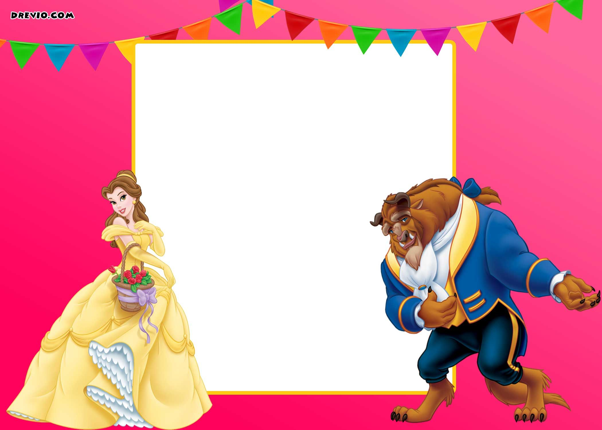 image about Free Printable Beauty and the Beast Birthday Invitations titled Absolutely free Printable Natural beauty And The Beast Royal Invitation