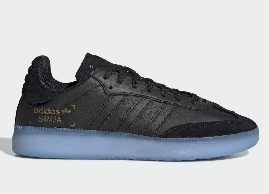Adidas Samba RM Shoes - Core Black   Shock Cyan   Gold Met ... 781c10a116e7e