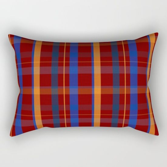 Red Plaid Rectangular Pillow  by scardesign11 #pillow #homedecor #bedroom #livingroom #buypillows #patternpillows #plaidpillow #society6  #coolhomegifts #buycoolpillows #HomeGifts #home #plaid #colorful #style #swag  #buyplaidpillow #plaidgifts  #giftsforher #gifts #giftsforteens#redplaid #redplaidpillow