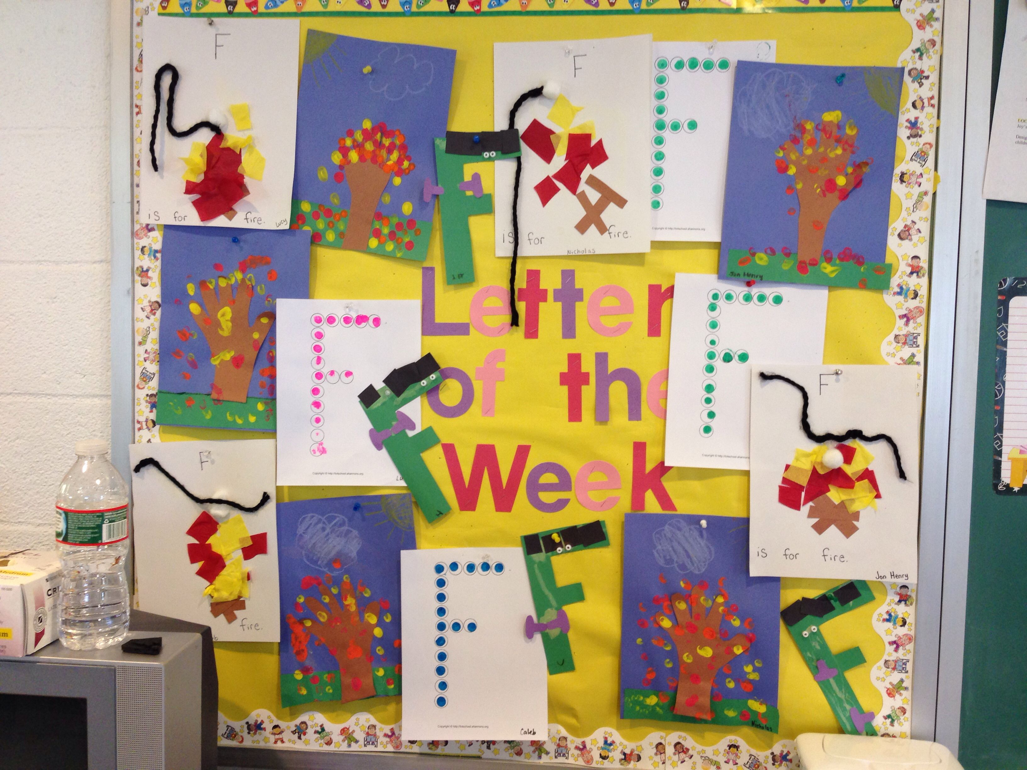 Letter f bulletin board bulletin board ideas pinterest for Cork board decorating ideas pinterest