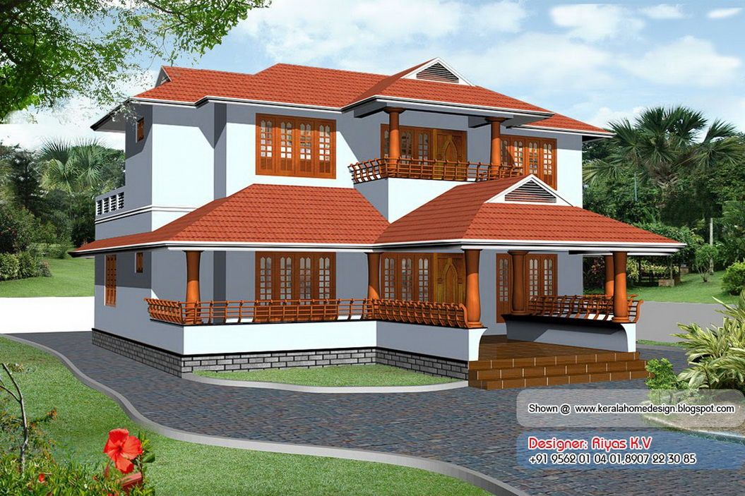 Simple Exterior House Designs In Kerala inspiring kerala home plan and elevation sq ft elevation view 3d