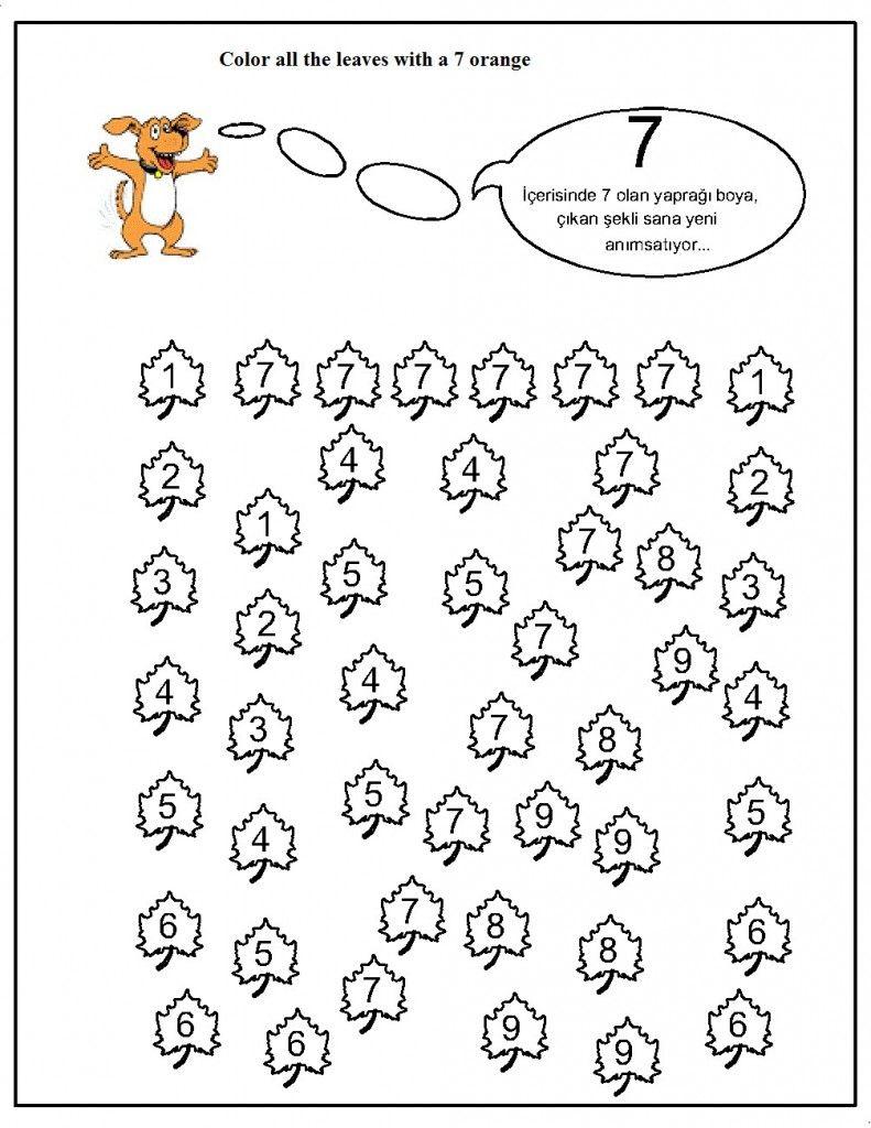 number hunt worksheet for kids (15) | Crafts and Worksheets for ...
